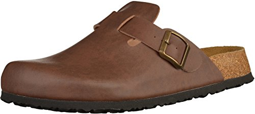 JOE N JOYCE Amsterdam Clogs, Normal Width, Size: W5 US, Brown, Slippers Cork-Shoes Closed Sandals...
