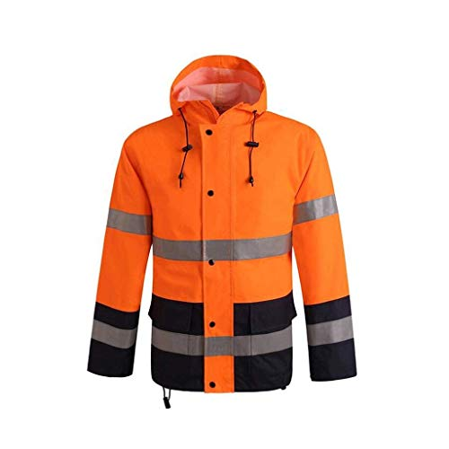 Werkkleding Hi Vis Viz Herbruikbare Regenkleding Duurzaam Met Reflecterende Strip Outdoor Waterdichte Veiligheid Werkkleding Regenvest XXL