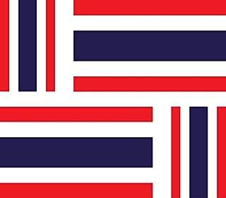 Akacha - 4 Adesivi Bandiera Thailandese, per Auto, Moto, valige, pc, Portatili