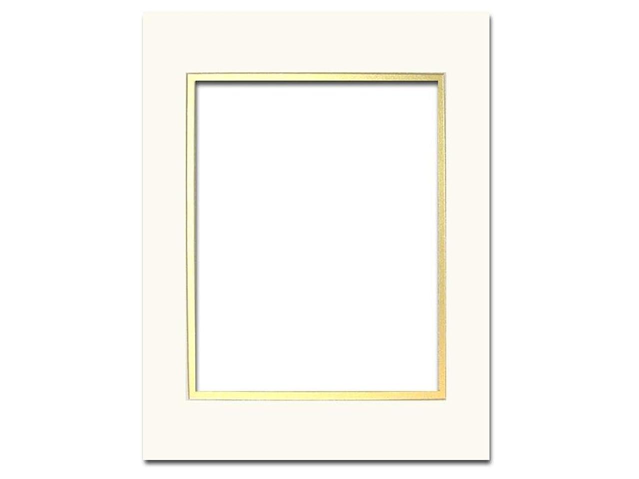 PA Framing ADF93308 ADF Mat Dbl 11x14/8x10 CrmCore Ivory/Gold