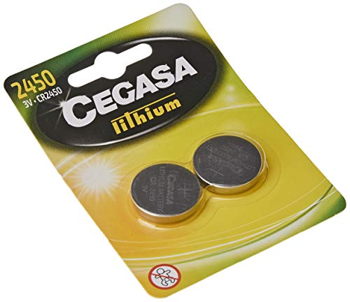 Oferta de cegasa CR2450 - Pack 2 pilas botón litio