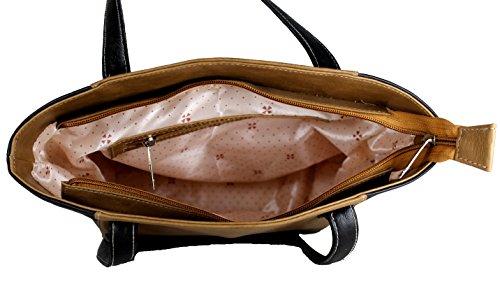 Fargo Motley PU Leather Women's Handbag With Sling Bag And Hand Clutch Combo Of 3 (FGO-158) (Beige)