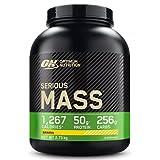 Optimum Nutrition Serious Mass Proteina en Polvo, Mass Gainer Alto en Proteína, con Vitaminas, Creatina y Glutamina, Plátano, 8 Porciones, 2,73kg, Embalaje Puede Variar