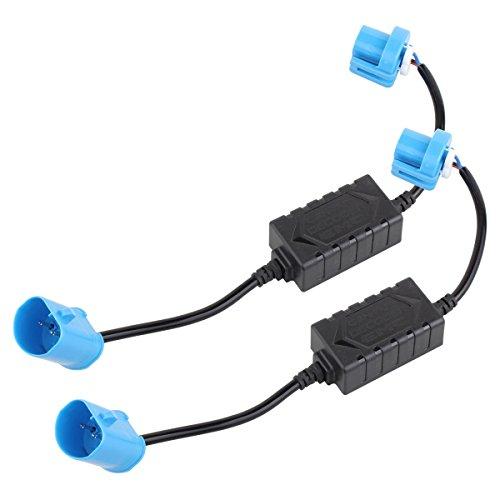 TOMALL 9007 HB5 CAN-BUS EMC Advertencia Error Libre Decoder Cancelador Condensador Anti-parpadeo Arnés resistor para LED Sistemas de faros