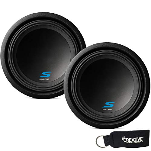 "Alpine Subwoofer Package - Two S-W12D2 S-Series 12"" Dual 2-Ohm Subwoofers"