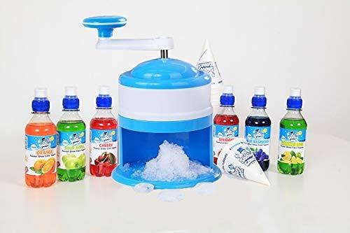 snowy cones Snow Cone Machine, Manual, Plus 6 Snow Cone Syrups, 25 Straw spoons and 25 Paper Cones