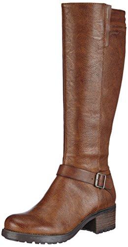 Esprit Saki Boot, Bottes de Motard de Hauteur Moyenne, Doublure Froide Femme - Marron - Braun (920 Cuoio), 41 EU (7 Damen UK) EU