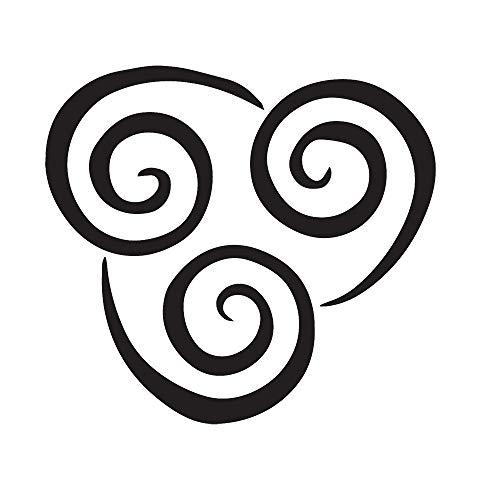 ANGDEST AIR CONTROLING Symbol Avatar (Black) (Set of 2) Premium Waterproof Vinyl Decal Stickers for Laptop Phone Accessory Helmet Car Window Bumper Mug Tuber Cup Door Wall Decoration