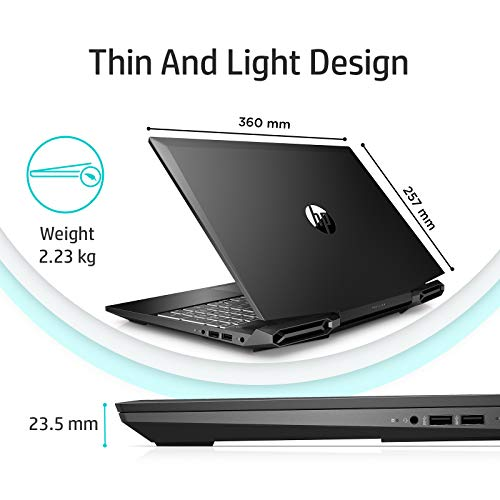 HP Pavilion Gaming 9th Gen Intel Core i5 Processor 15.6-inch FHD Gaming Laptop (8GB/1TB HDD/M.2 Slot/Windows 10/NVIDIA GTX 1650 4GB/Shadow Black), 15-dk0263TX