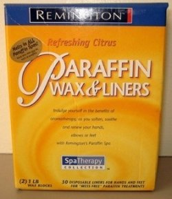 remington paraffine - parafin - wax and liners - for hands and feet - indulge yourself