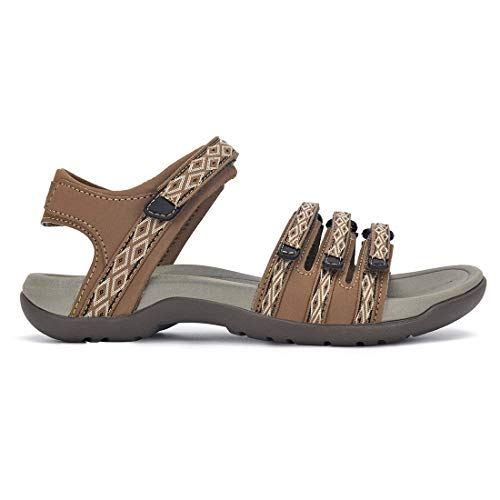 Viakix Hiking Sandals Women – Comfortable Fashionable Athletic Sport Shoes for Walking Outdoors Water Trekking
