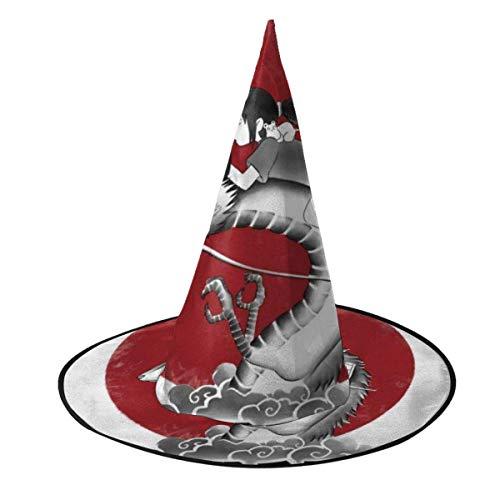 Sombrero de Halloween El Viaje de Chihiro Sombrero de Bruja del espritu del Sol Rojo Halloween Disfraz Unisex para Vacaciones Halloween Fiesta de carnavales de Navidad