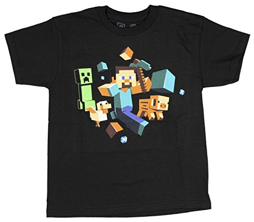 Minecraft T-shirt Run Away jeugd-T-shirt