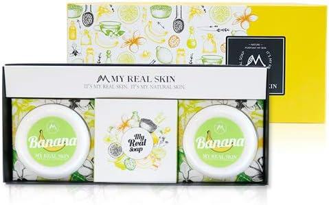 MY REAL SKIN NATURAL BANANA SOAP Premium daily soap ingredient Banana Calamansi Noni Eoseongcho product image