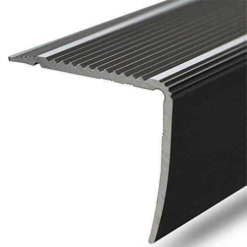 Alu Stufenkantenprofil Integral | L Form | gelochtes Profil zum Schrauben | Breite 30 mm | eloxiert Bronze | 134 cm