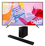 Samsung QN85Q60TA 85' QLED Ultra High Definition Smart UHD 4K TV with a Samsung HW-Q800T 3.1.2 Ch Dolby Atmos Soundbar and Wireless Subwoofer (2020)