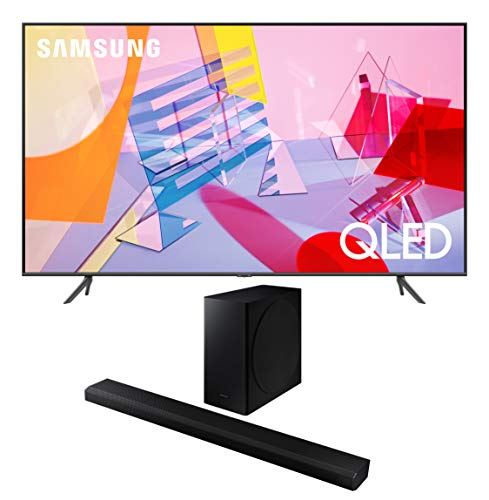 Samsung QN58Q60TA 58' 4K QLED Dual LED Ultra High Definition Smart TV with a Samsung HW-Q800T 3.1.2 Ch Dolby Atmos Soundbar and Wireless Subwoofer (2020)