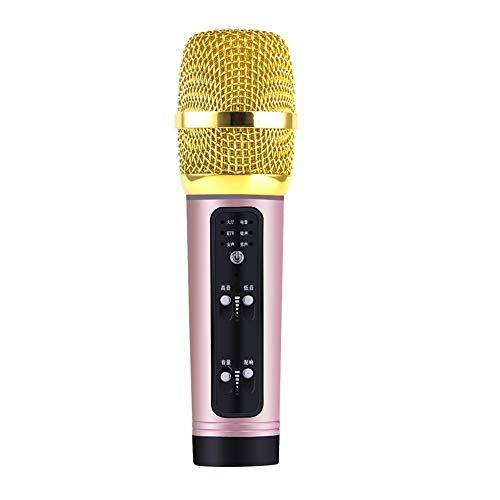 Micrófono de canción K, micrófono de Tarjeta de Sonido Condensador Vocal Cantante en Vivo Ancla, Compatible con el Sistema operativo Android iOS