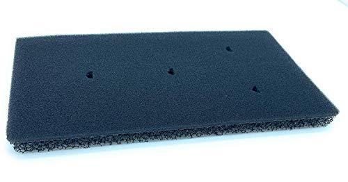 1 x Filtro para secadora Whirlpool® Bauknecht® Privileg® HX, bomba de calor, filtro de espuma, tamaño 230 x 115 x 12 mm 1 Filtro