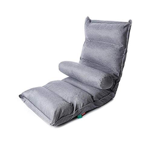 Jixing Sillones reclinables de suelo, sillas de enfermería, asientos de tatami, asientos futón, plegable, ajustable, almohadas lumbares, muebles Cintura ligera5
