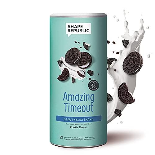 Shape Republic Vegan Slim Shake Cookies (420g)   Hyaluron   Gewichtsmanagement Shake für Frauen   proteinreicher Diät Shake zum Abnehmen   vollwertiger Mahlzeitenersatz mit 23 wertvollen Vitaminen