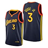 Golden State Warriors 3# Kelly Oobre Jr. Jersey para Hombres, 2021 New Temporada City Edition Basketball Jersey, clásico Retro Juventud Soul Swingman Jersey (S-XXL) S