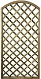 Pannello Grigliato in Legno di Pino Impregnato da Giardino per pianti rampicanti Decorazione Balconi (90x180 cm - Arco)