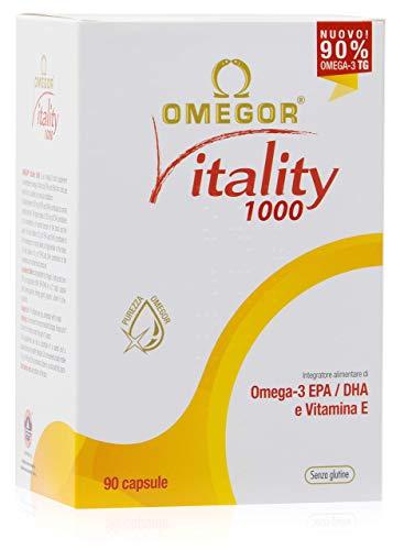 OMEGOR® Vitality 1000: ¡NUEVO con un 90% de Omega-3 TG! 5 * IFOS certificado desde 2006. EPA 535 mg y DHA 268 mg por perla. Min. Estructura 90% de triglicéridos y destilación molecular, 90 cps.