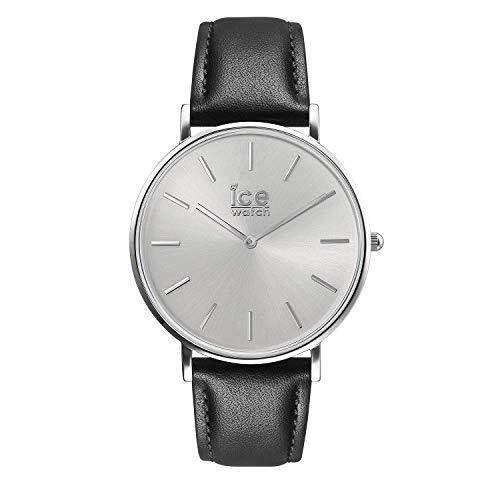 Ice-Watch - CITY classic Black silver - Reloj nero para Hombre con Correa de cuero - 016226 (Medium)