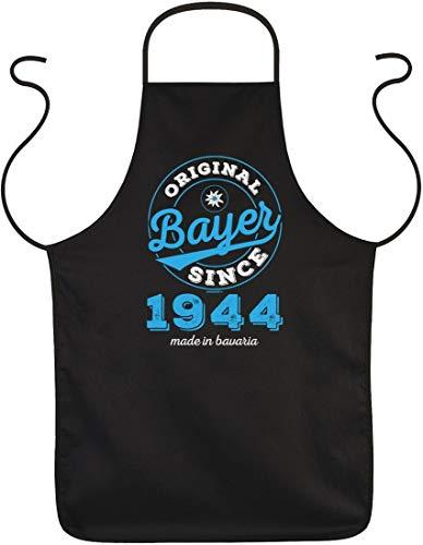 Original Bayer Since 1944 made in bavaria - Lustige Grill Koch Schürze mit Spruch - tolle Geschenkidee f. den Geburtstag