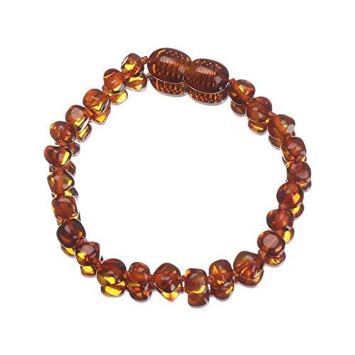 Baltic Infant Jewelry Handmade Irregular Baby Bracelet Wristband Anklet Natural Amber(1)
