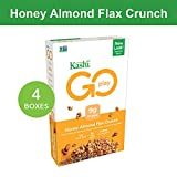 Kashi GO Honey Almond Flax Crunch Breakfast Cereal - Non-GMO   Vegetarian   Bulk Size   14 Ounce (Pack of 4)