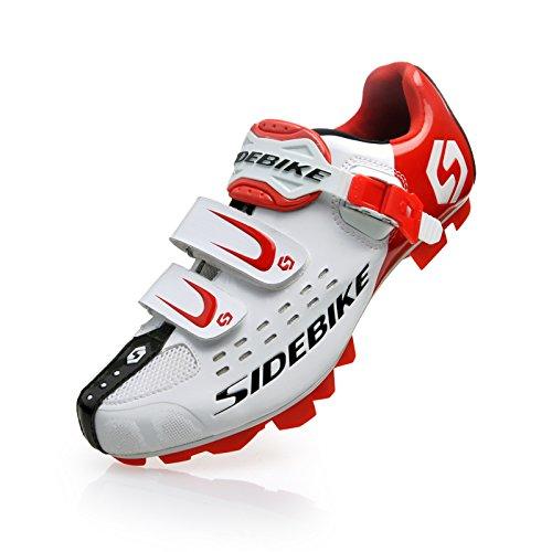 GUTANG-DC y zapatos de ciclo del camino que compite con los zapatos para Hombres 46 EU Blanco Y Rojo