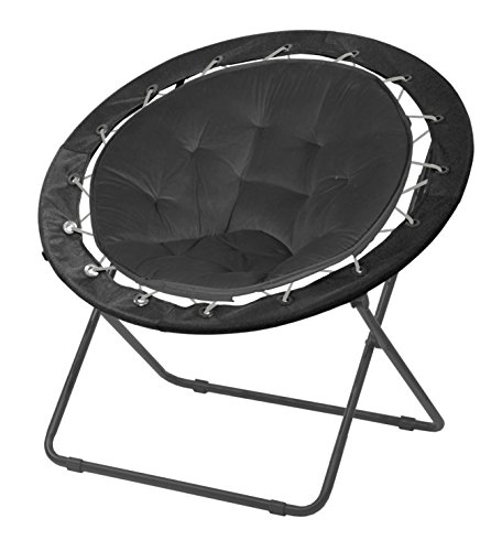 "Urban Shop Bungee Saucer Chair, 30"", Black"