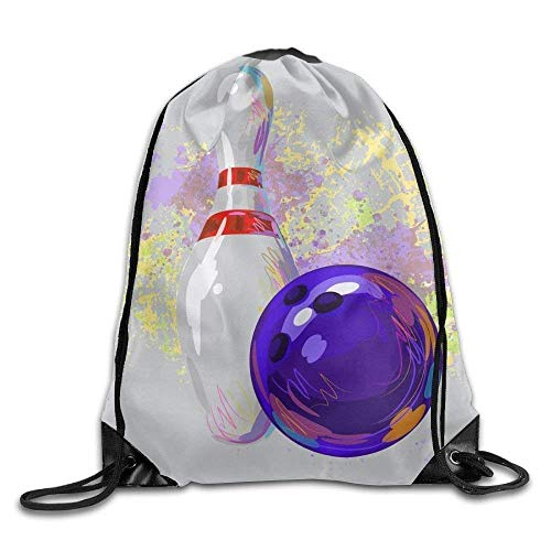 JMAKI Drawstring Gym Sport Bag Bowling Sport Fashionable Travel Bag for Unisex Canvas Bag Drawstring