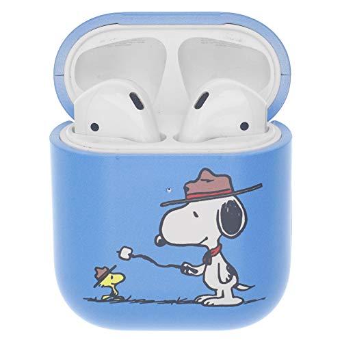 Peanuts Snoopy ピーナッツ スヌーピー AirPods と互換性があります ケース エアーポッズ用ケース 硬い スリム ハード カバー (キャンプ スヌーピー マシュマロ) [並行輸入品]
