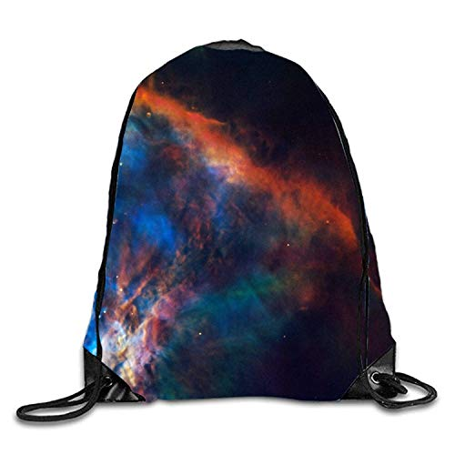 uykjuykj Coulisse Sacchetto,Zaino Coulisse Sacchetto, Drawstring Backpack Rucksack Shoulder Bags Gym Bag Travel Backpack Santa Claus Skull Orion Nebula5 Lightweight Unique 17x14 in
