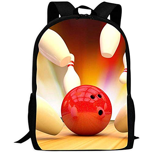 School Bag,The Bowling Ball Lightweight Adult Bookbags for Adults Climbing Travelling