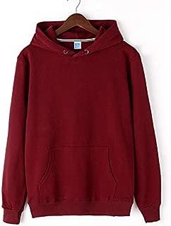 Men's Sports Sweater Hooded Terry Print Fleece Casual Loose Sweatshirt Pullover