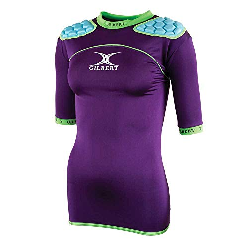 Atomic Zenon WRX Ladies Rugby Body Armour - Purple/Sky - size M