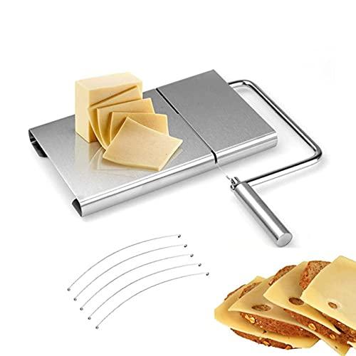 Cortador de queso de acero inoxidable con 5 líneas de corte