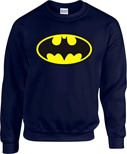 Batman-Logo-Pullover, Superheld, DC Comic Batman, Joker, Harley Quinn, Gotham City Gr. 5-6 Jahre, navy
