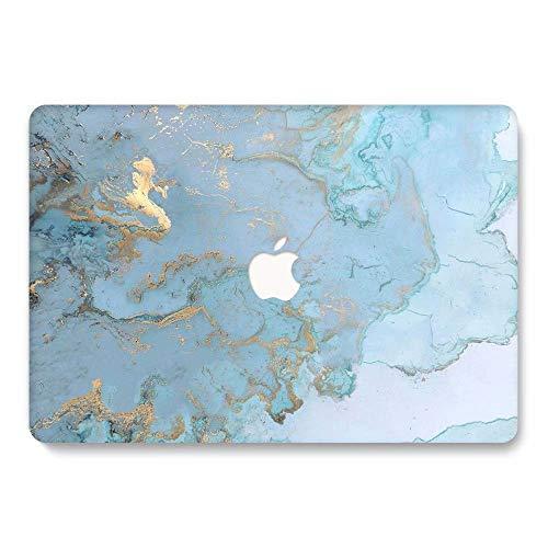 AQYLQ Funda Dura para Macbook Pro Retina de 15 Pulgadas (A1398) - Ultra Delgado Carcasa Rígida Protector de Plástico Acabado Mate Cubierta, DL 41 -Mármol Azul