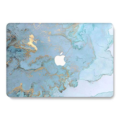AQYLQ Hard Case for 2016/2017/2018 New MacBook pro 15 inch Model A1707/A1990 Smooth Touch Matte Plastic Rubber Coated Protective Shell Cover -DL 41 -Blue marble