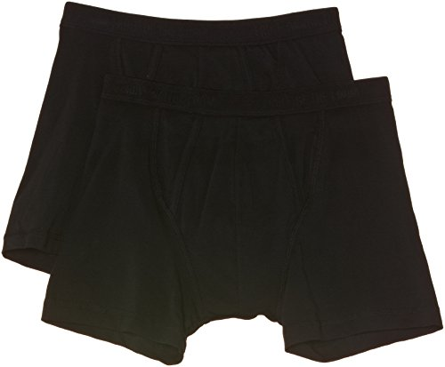 Fruit of the Loom Herren Boxershort 2 er Pack 170267, Gr. 7 (XL), Schwarz (36 schwarz)
