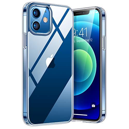 TORRAS Diamond Series Hülle Kompatibel mit iPhone 12 Mini, Vergilbungsfrei Durchsichtig Handyhülle Hard PC Back und Soft Silikon Bumper Case - Transparent
