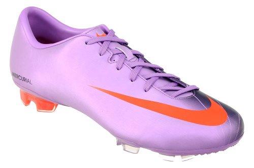 Nike Mercurial Miracle FG Zapatillas de fútbol para Hombre, Violet Pop/Naranja-Dark obsdn, Color, Talla 42