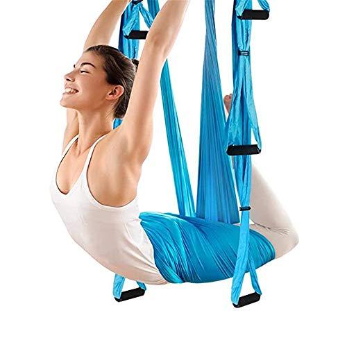 QHGao Anti-Zwaartekracht Plafond Ophangen Yoga Sling Luchtfoto Yoga Hangmat voor Yoga Handstand Praktijk, Ophangen Yoga Sling Hulpmiddel Elastische Touw