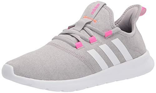 adidas womens Vario Pure Running Shoes, Grey/White/Screaming Pink, 8.5 US