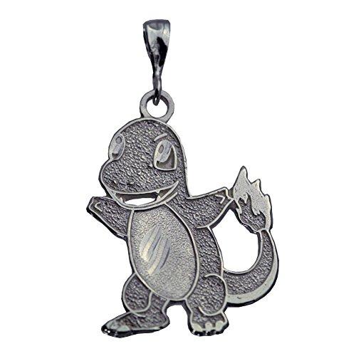 Prince of Diamonds Inc Real Sterling Silver 925 0301 Charmander Pokemon Pendant Charm Silver Jewelry